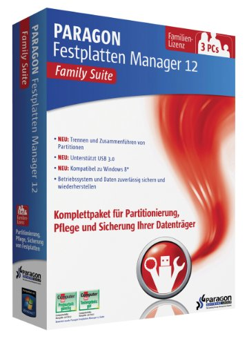 Paragon Festplatten Manager 12 Family