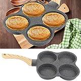 Padella per frittata a 4 fori, padella per pancake antiaderente Colazione salutare Padella per uova in alluminio per fornello per fornello a gas, fornello a induzione, fornello elettrico in ceramica