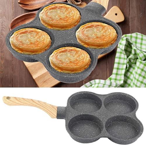 Sartén 4 CIRCULOS Crepe 4 Compartimentos Blinis Repostería Cacerola Antiadherente hamburguesa de huevo panqueques de desayuno tortilla Aluminio cocina de Utensilios