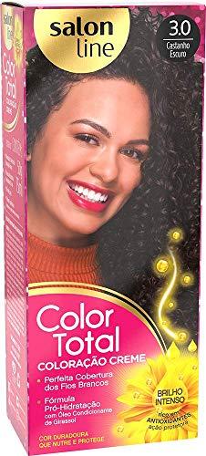 Salon Line Tintura Permanente 3 Castanho Escuro Unit, Color Total