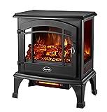 Comfort Glow EQS5140 Sanibel 3-Sided Infrared Quartz Electric Stove Black Finish