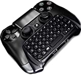 Bluetooth Mini Wireless Keyboard Chatpad für PS4-Controller, Wireless KeyPad für Playstation 4