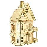 SYOSY Manual de ensamblaje de Juguetes de Madera Modelo Mockup 3D Villa gótica Villa para niños y Adultos Mayores de 6 años