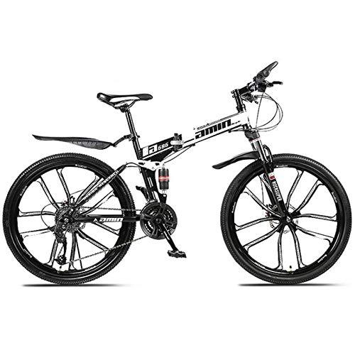 YSHUAI Bicicleta Plegable MTB Bicicletas De Cross Trekking, Deportes Plegables, Bicicleta De Montaña, Fitness Al Aire Libre, Ciclismo De Ocio para Hombres, Mujeres, Niña, Adecuado para Niños,Negro