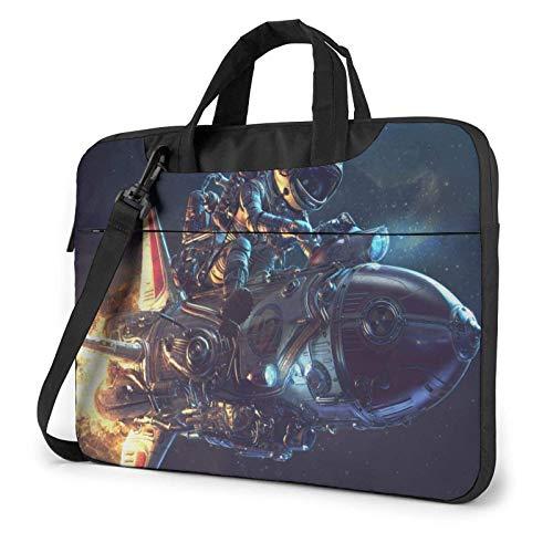 15.6 inch Laptop Shoulder Briefcase Messenger Astronaut and Rocket Tablet Bussiness Carrying Handbag Case Sleeve