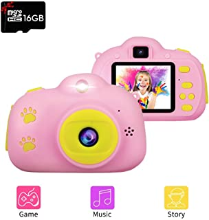 [Childrens Day Gift] Kids Camera, RegeMoudal Digital Cameras for Girls or Boys Age 3-12, 1080P HD 8MP Shockproof Cameras Great Gift for Kids (16G SD Card Included) Christmas Kids Gift