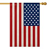 AVOIN American US Flag House Flag Vertical Double Sided, Patriotic Flag of The