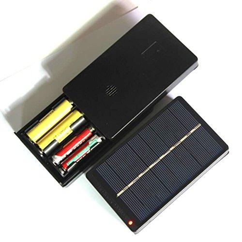 NUZAMAS AAA AA Batería Recargable Cargador del Panel Solar Caja de Carga 4 baterías 2in1 4V 1W