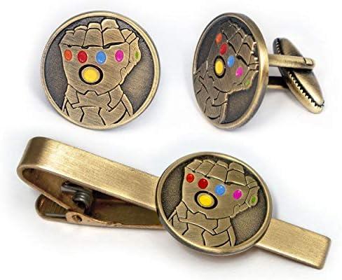 Infinity Gauntlet Tie Clip Avengers Thanos Cufflinks Marvel Iron Man Jewelry Ironman Tie Tack product image