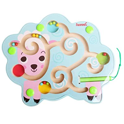 iwood Wooden Magnetic Bead Maze Puzzle for Todd...
