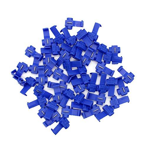 DIAMOEN 50pcs Azul con Aislamiento Conectores rápidos Empalme de Cable de Alambre broches de presión eléctrica Conexión Clamp Kit 14-16AWG