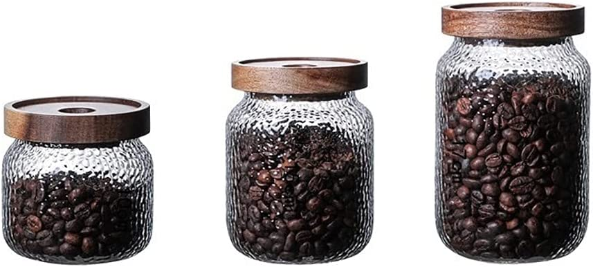 CWYP-MS Glass Candy Jars Sale price with Wood Lid 2021 autumn and winter new Bottl Kitchen Storage Jar