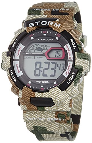 Diadora Herren Digital Quarz Uhr mit Plastik Armband DI-016-04