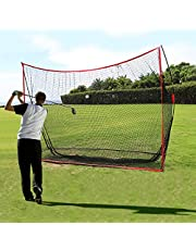 Qdreclod Red de práctica de Golf Net Plegable 3M X 2M Red Golf Practica Red de Entrenamiento de Golf al Aire Libre Interior con Bolsa de Transporte