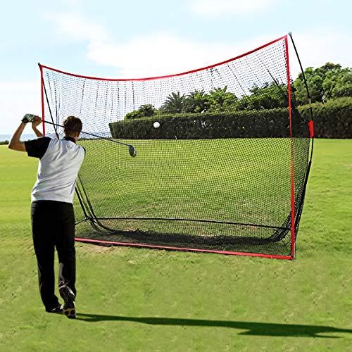 Golf Schlagnetze Golf Trainingshilfe Tragbares Golfnetz Garten Golfnetz Tragetasche Wird enthalten Golf Übungsnetz für Hinterhoffahren Indoor Outdoor Golfübungsgeräte 3M X 2M (Schwarz 3m x 2,13m)