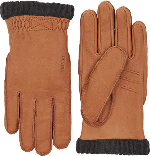 HESTRA Deerskin Primaloft Rib Handschuhe, Cork, EU 8