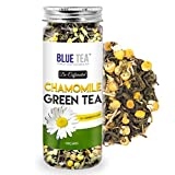 BLUE TEA - Chamomile Green Tea Whole Leaf with Shankhpushpi | Decaf Tea