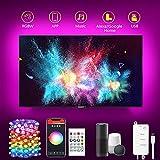 LED Retroilluminazione TV Intelligente Alexa, 3M Stringa Led Smart luci led WiFi, Strisce per TV 40-55 pollici, specchio, Sincronizzazione con musica, 16milioni di colori dimmerabile RGB, telecomando
