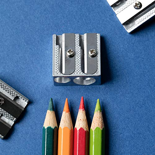 Mr. Pen Handheld Metal Pencil Sharpener with 2 Holes, Pack of 6 Photo #9