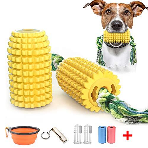 Juguetes para Morder para Perros Cepillo de Dientes con Perro de Juguete interactivo con cuerda de algodón Palillo de limpieza de dientes resistente y resistente Regalo de Amante de los Animales