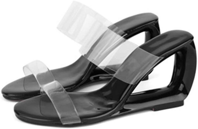 Womens Open Toe Block Heel Slide Sandal Lucite Clear Dual Straps Slip On Slide Mules