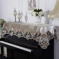 ピアノカバー 高級 レースピアノカバーピアノタオル刺繍ファブリック90x220cmユニバーサル 防塵カバー 灰つけない (Color : A, Size : S)