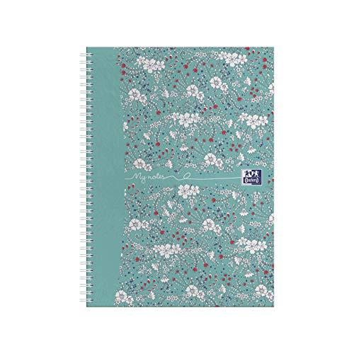 Oxford Floral - Juego de cuadernos (A5, tapa dura), diseño de flores Pack individual