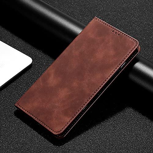 WQDWF Funda con Tapa de Cuero para Fundas de teléfono Huawei, marrón, para Honor 8