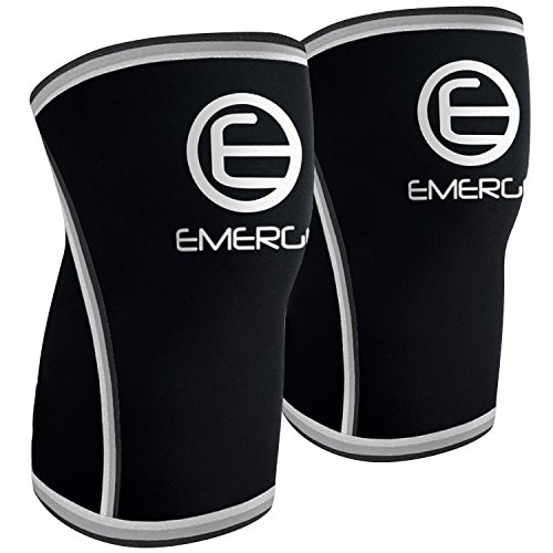 Emerge Fitness Compression Knee Sleeves, Large
