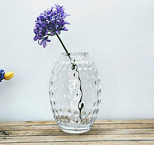 Honingraat glas grote artistieke vaas 37 cm hoog | interieur Decor