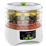 CookNShare Food Dehydrator by Cooks Club Adjustable Timer and Heat Settings Includes 4 Trays