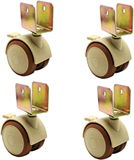 WQF 4xRubber zwenkwiel,Meubelwiel,Diameter 47mm (2in), Dempen, Geschikt voor kleine meubels, Wieg