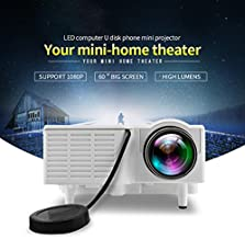 Fosa UC28+ Mini Pico Projector Home Cinema Theater Digital 1080P HD LED LCD Portable Projector Support PC&Laptop VGA/USB/SD/AV/HDMI Input Multimedia Projector