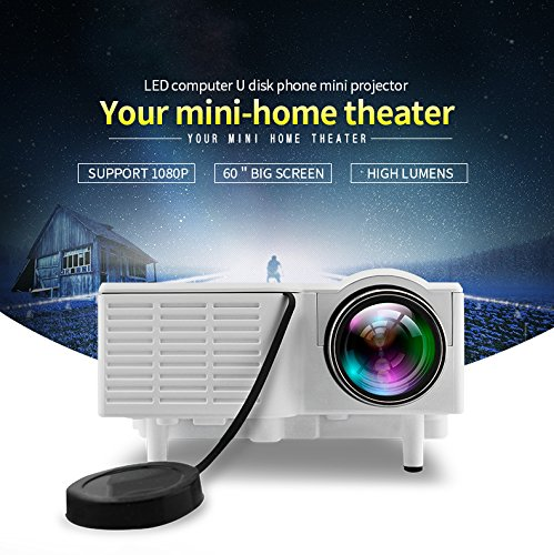 Fosa UC28+ Mini Pico Projector Home Cinema Theater Digital 1080P HD LED LCD...