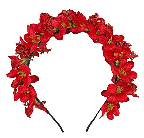 Trachtenland Blumen Haarreif Ranya - Rot
