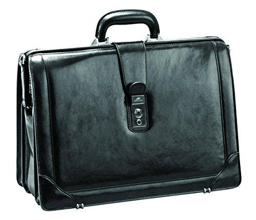Mancini Italian Leather 17' Laptop Lawyer's Briefcase - Black