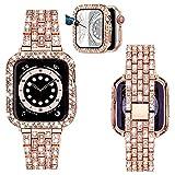 TRUMiRR Bracelet Pailleté + Diamant pour 40mm Apple Watch 6/SE, Bracelet en métal en Acier...