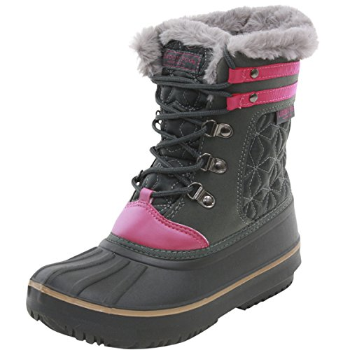 LONDON FOG Little Girl's Chiswick Grey Water Resistant Snow Boots Shoes Sz: 12