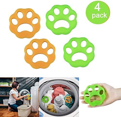 XMY 4pcs Pet Hair Remover de lavandería, Perros y Gatos de Pelo Catcher para la Lavadora, no tóxico Seguridad Reutilizable Flotante Pet Catcher Piel, lavandería Pelusa y removedor de la Piel