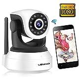 Caméra de Surveillance WiFi, Lemnoi SP017 Caméra IP WiFi 1080P Intérieur, Audio Bidirectionnel pour Bébé Vision Nocturne Détection de Mouvement avec l'app Android/iOS (1080P)