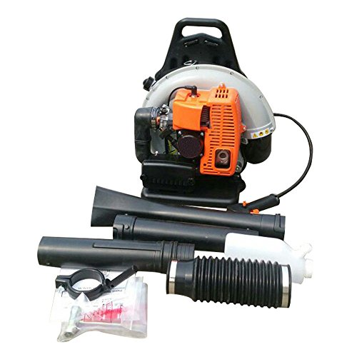 65cc 2 Stroke Commercial Backpack Gas Powered Leaf Blower Gasoline Grass US Stock