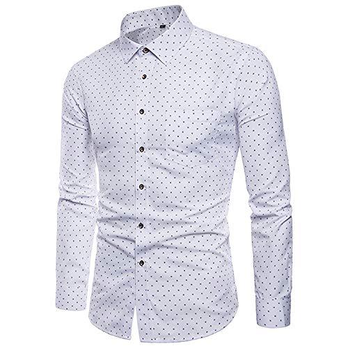 Nuevos hombres solapa Cardigan camisa hombres pulgadas ropa joven Slim manga larga camisa hombres hombres