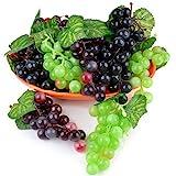 JUSTDOLIFE 9 racimos de Uvas Artificiales Decorativas para Decoración De Mesa y Frutas, Frutas Falsas, Hogar, Cocina, Fiesta, Fotografía, Decoración De Boda etc