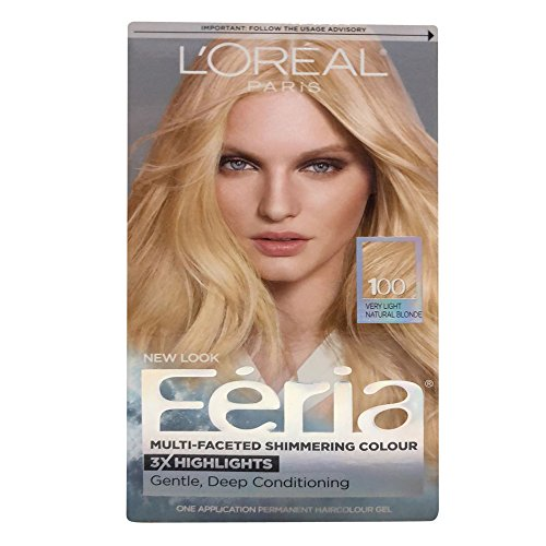 L'Oreal Paris Feria Multi-Faceted Shimmering Color, Very Light Natural Blonde [100] 1 ea