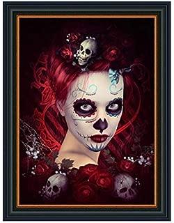 5D Diamond Painting Girls Skulls Cartoons Stitch Mosaic Cross Stitch Rhinestone Skull Clown Girl Set for Home Decoration Embroidery(11.8 x 15.7 inches)