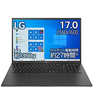 "LG ノートパソコン gram 1350g/バッテリー最大27時間/Core i7/17インチ WQXGA(2560×1600)/メモリ 16GB/SSD ..."""