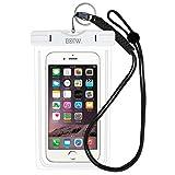 wasserdichte Handyhülle IPX8 Tasche - EOTW wasserdichte Handy hülle kompatibel für iPhone 12/11 Pro Max Samsung S21/S20/A51/A71 Huawei Segeln Zubehör Smartphone Universal Umhängetasche (Weiß)