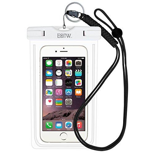 EOTW IPX8 wasserdichte Tasche, Handytasche Wasserdicht für Geld, Datenträger und Smartphones bis 16,51 cm (6,5 Zoll), Ideal für den Strand, Wassersport, fürs Radfahren, Angeln, usw. Weiß