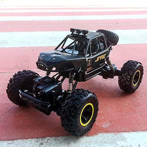 SZHANG 2.4G Coche De Control Remoto 1:16 Escala De Aleación Carcasa Escalada 45 ° Coche RC Montaña Bigfoot 4WD Modelo De Juguete para Niños Todo Terreno Todoterreno RC Buggy Regalo De Cumpleaños para