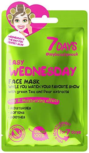 7DAYS Maschera 1 pezzi Naturale Ammorbidisce Lenisce Esperte di Bellezza Viso